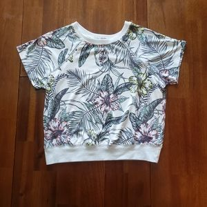 Inspired Hearts White Pink Yellow Tropical Shirt